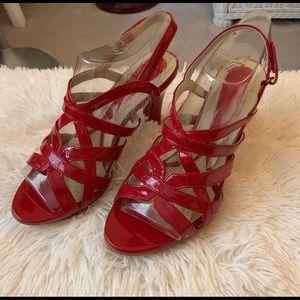 Naturalizer HOT RED Platform Sandals